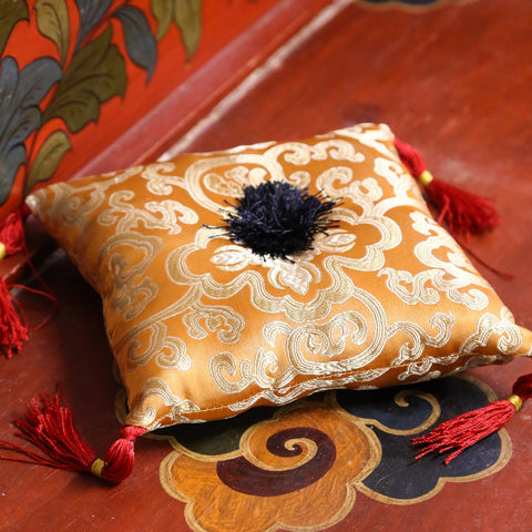 Golden Lotus Singing Bowl Pillow