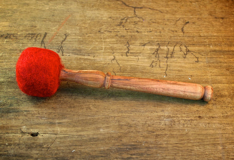 Handcrafted Red Wool Mallet