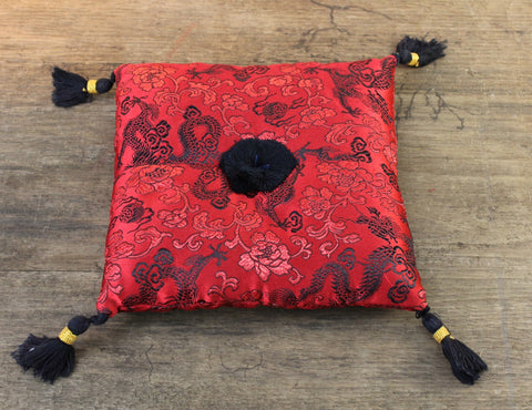 Red Dragon Singing Bowl Pillow