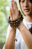 Strengthening Tiger Eye with Lapis 108 Bead Mala