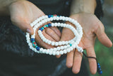 108 Bead Yak Bone Mala with Lapis and Traditional Tibetan Beads