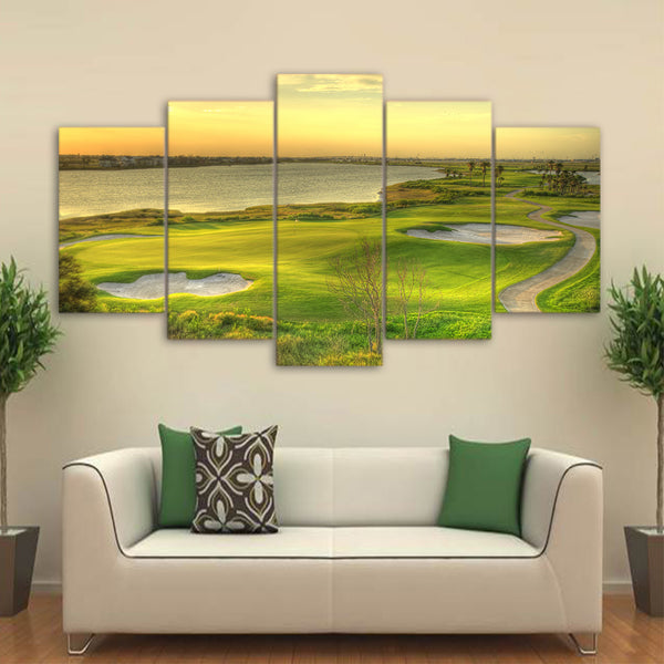 Stunning Golf Landscape (5 Piece Canvas Print)