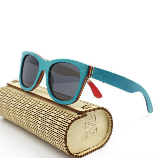 Recycled Skateboard Deck Polarized Sunglasses