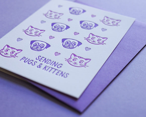 Sending Pugs & Kisses - Boxed Set of 6