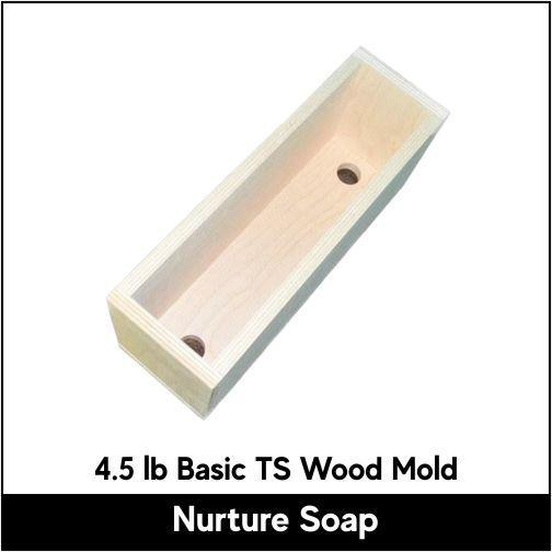 4.5 lb Tall Skinny Basic Wood Mold - Nurture Soap