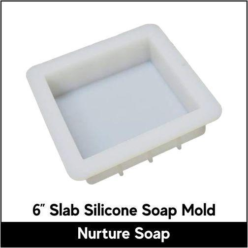 "6"" Slab Silicone Soap Mold - Nurture Soap"