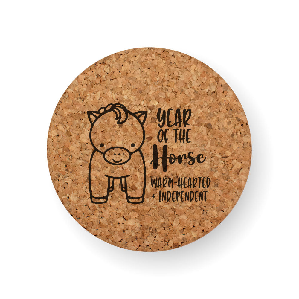 CHINESE ZODIAC YEAR OF THE HORSE COASTER