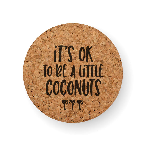 A LITTLE COCONUTS COASTER