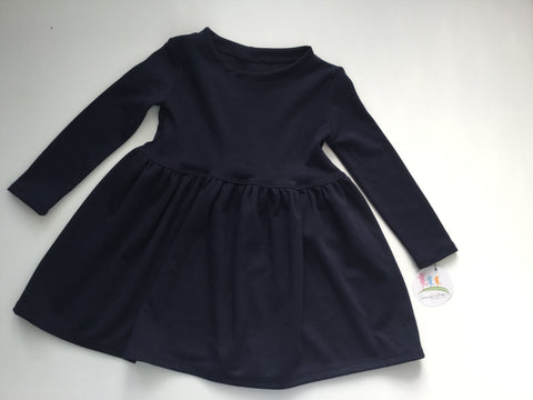 Long Sleeve Winter Dress -Navy