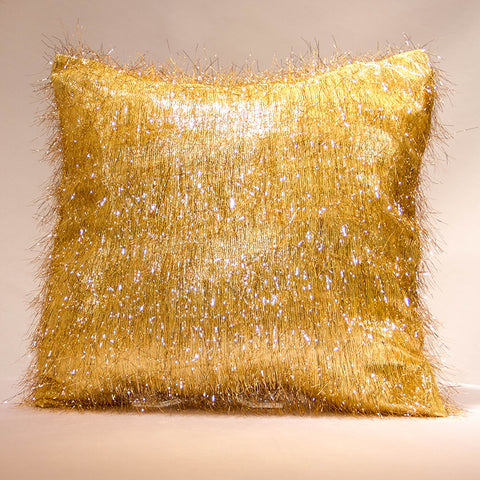 Gold Eyelash Pillow