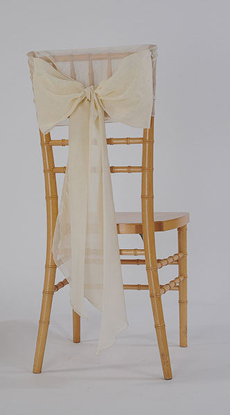 Ivory Sheer Chair Sash