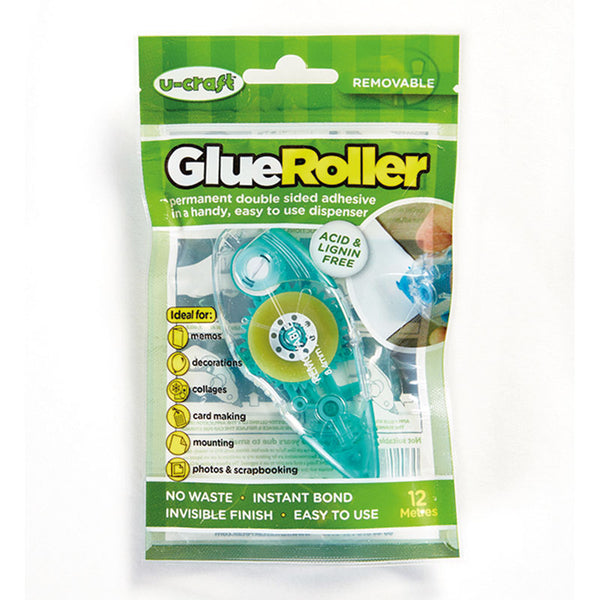 Glue Roller - Removable Adhesive (12m) - an alternative to Double Sided Tape