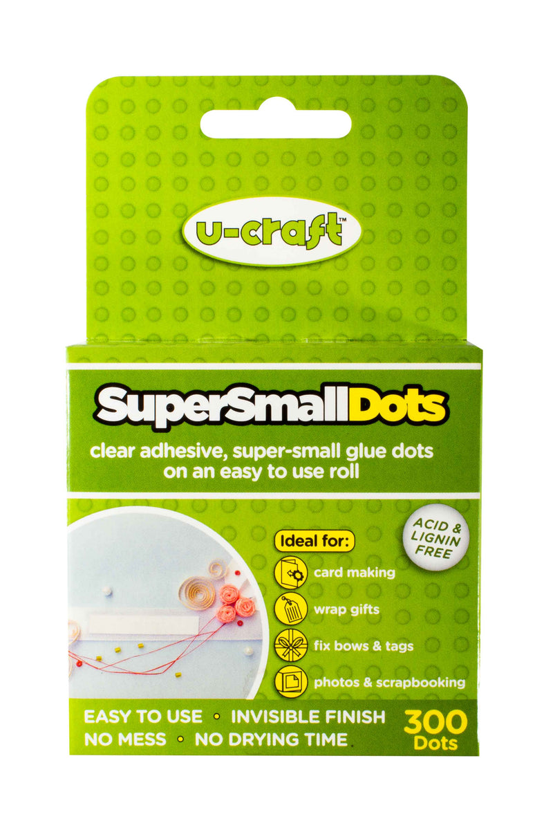 Super Small Glue Dots - 300 x permanent dots on a roll (3mm Diameter)
