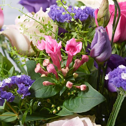 Secret Garden Flower Delivery - Lilac Roses & Lisianthus - Hand-tied Bouquets - Postabloom Flower delivery app