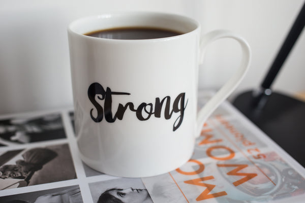 """Strong"" mug by Beyond the Stork"