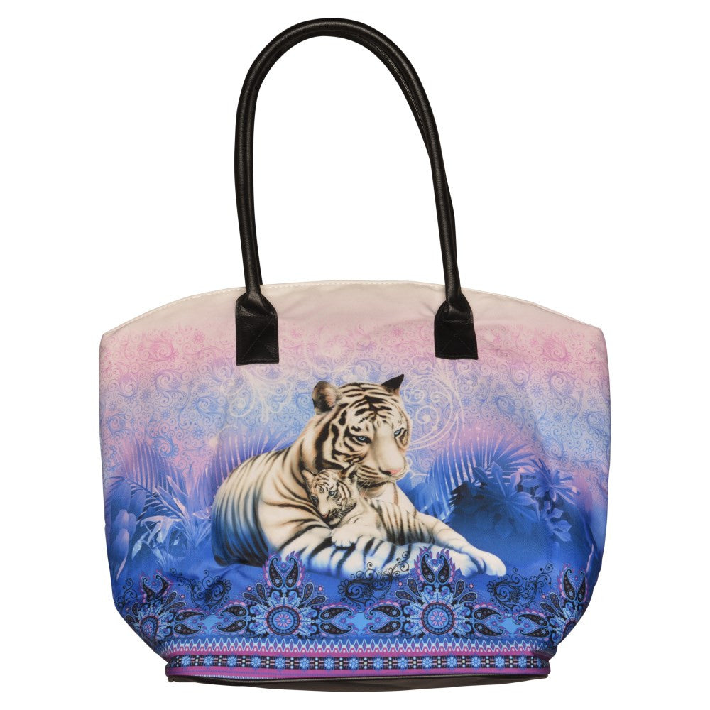 Bali White Tiger Bucket Bag
