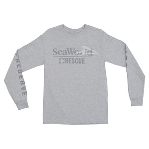 SeaWorld Rescue Grey Long Sleeve Adult Tee