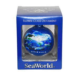 SeaWorld 2019 Dated Glass Ornament