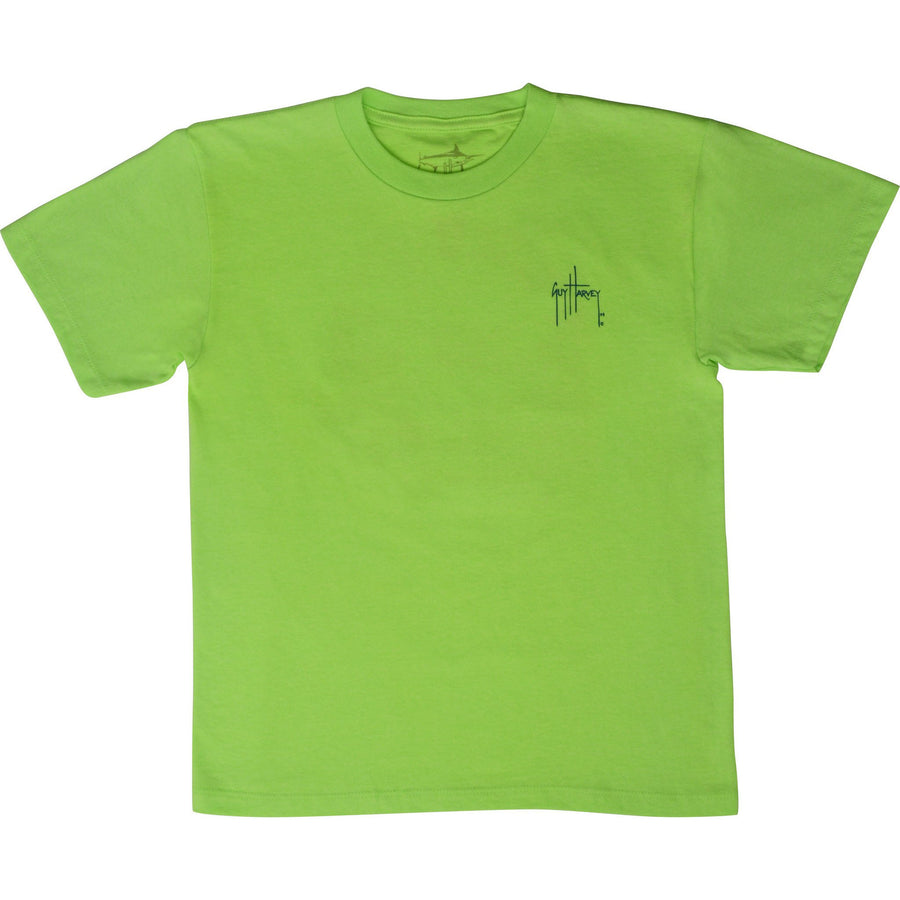 SeaWorld and Guy Harvey Exclusive Save Our Seas Youth Lime Green Tee
