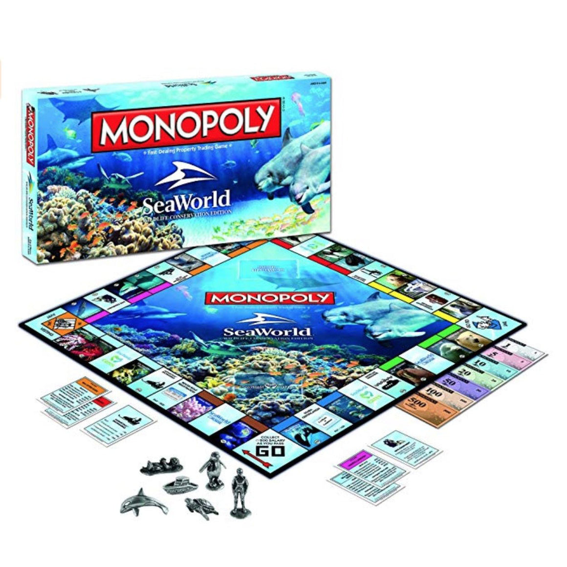 SeaWorld Monopoly Wildlife Conservation Edition