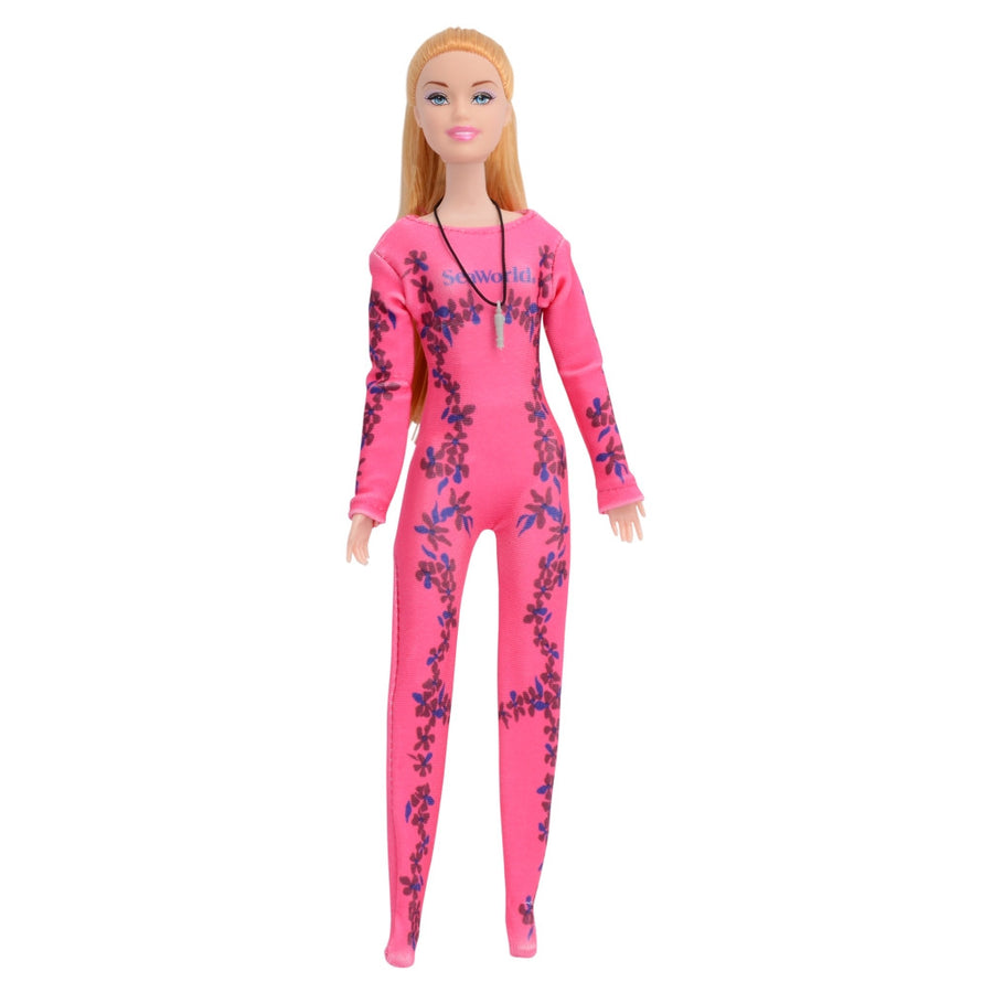 SeaWorld Dolphin Trainer Blonde Doll Playset
