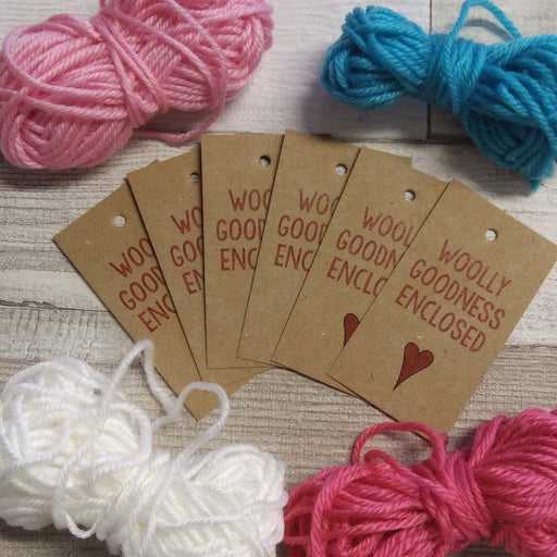 "Gift Tags - ""Woolly Goodness Enclosed"""