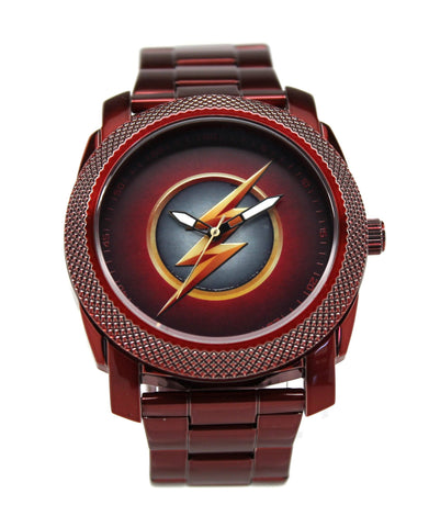 The Flash CW Stainless Steel Red Watch (FLT8006) - SuperheroWatches.com