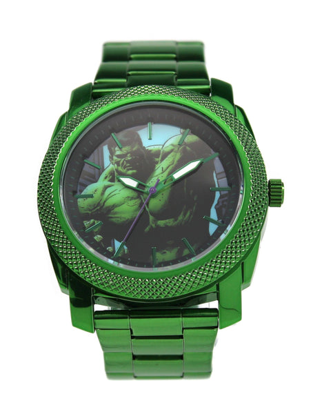 The Incredible Hulk Men's Stainless Steel Watch (HLK8001) - SuperheroWatches.com