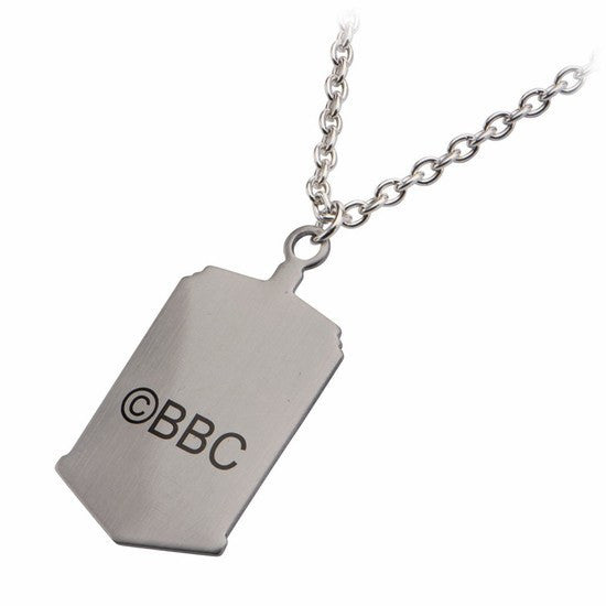 Doctor Who Photo Printed Stamp Cut TARDIS Dog Tag Pendant (DWHOTDNCK02) - SuperheroWatches.com