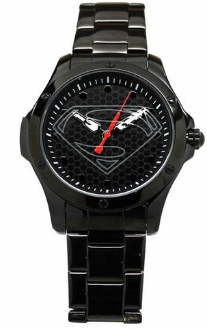 Man of Steel Superman Hope Black Stainless Steel Limited Edition Watch (MOS 8015) - SuperheroWatches.com