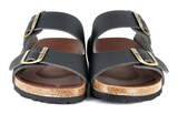 Beta Two Strap Sandal in Black from Vegetarian Shoes
