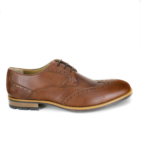 Quinn Brogue in Tan from Novacas