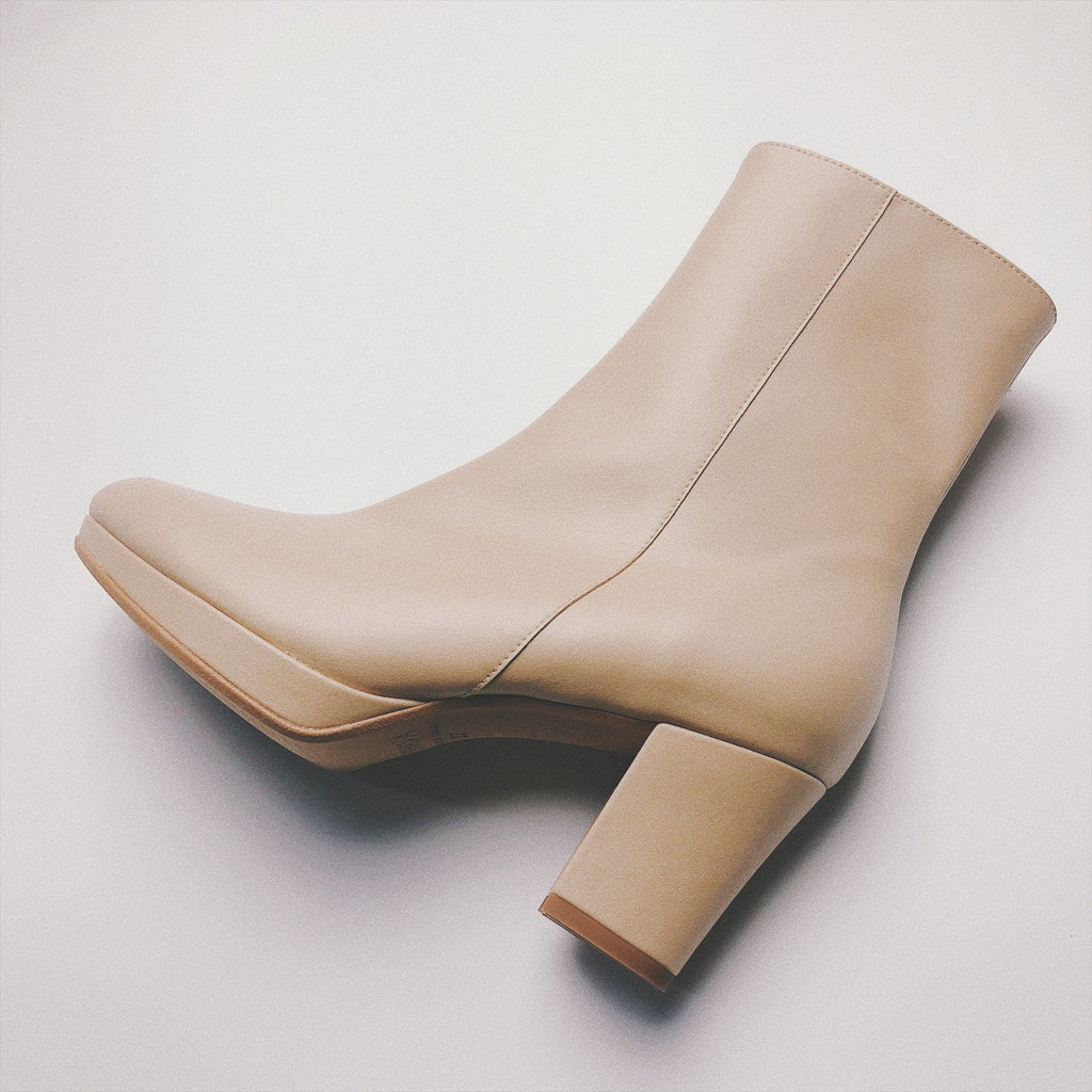Stevie Platform Boot in Beige from Bhava