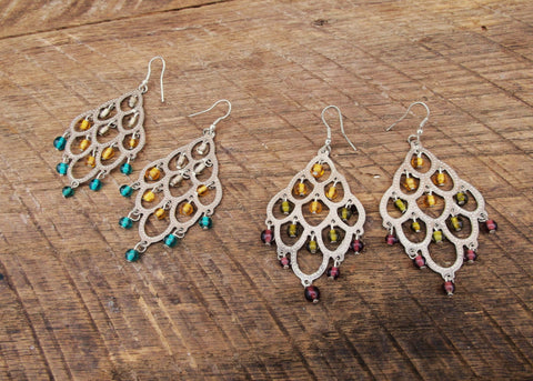 Chandelier Earrings, India