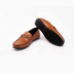 Bergen Double Monk Slip Ons - Tan