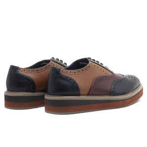 Beverly Tricolour Brogues - Black