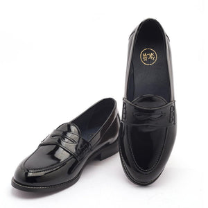 Shoes - Boise Penny Loafers - Glossy Black