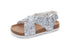 Ivy Criss Cross Sandal - Crushed Silver