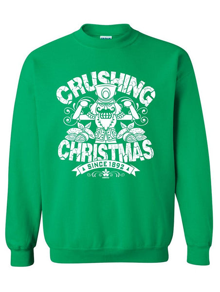 Manateez The Nutcracker Crushing Christmas Crew Neck Sweatshirt