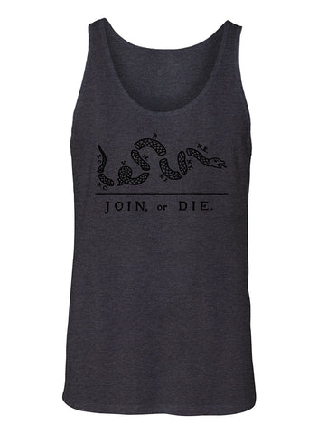 Manateez Men's America Join or Die US Constitution Cartoon Tank Top