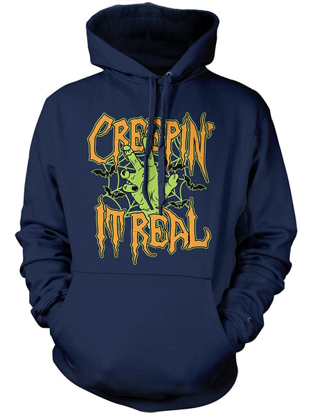 Manateez Halloween Party Zombie Creepin' It Real Hoodie