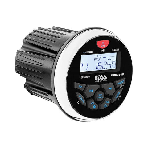 Boss Marine Weatherproof In-Dash Mechless Bluetooth Multimedia Player