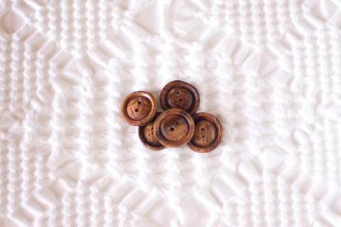 East Indian Walnut 1/2-inch Buttons