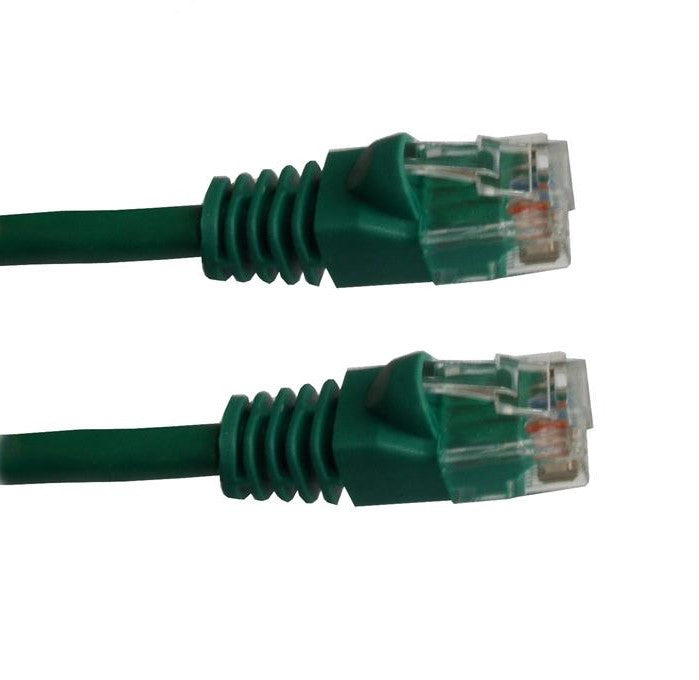 50 Ft CAT5E Ethernet Patch Cable, UTP, Booted, Green