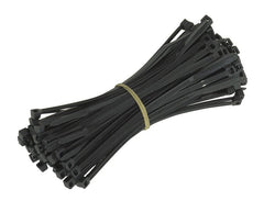 8 Inches Cable Ties 40 lb,  Black,  100 Pack