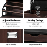 12 Pairs Shoe Cabinet Organiser Wooden Storage Bench Stool