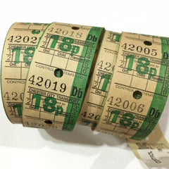 Vintage Bus Tickets Roll - Chester City Transport 18p