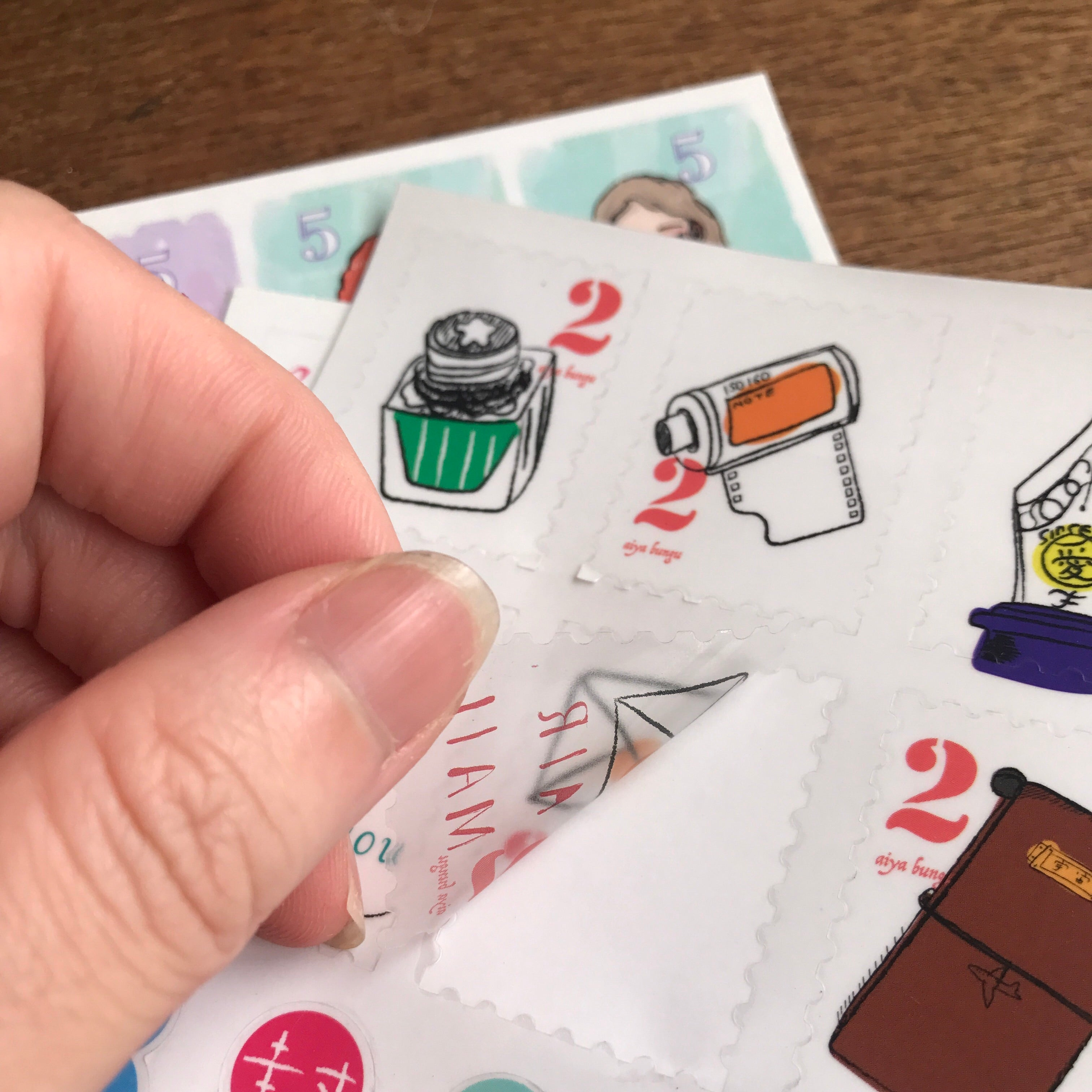 LDV Postage & Index Stickers/3pcs