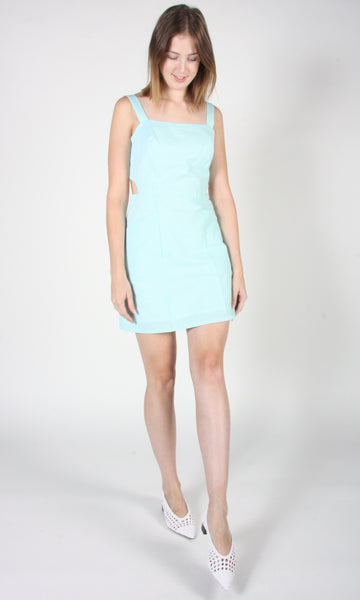 Bluebird Dress - Mint Seersucker