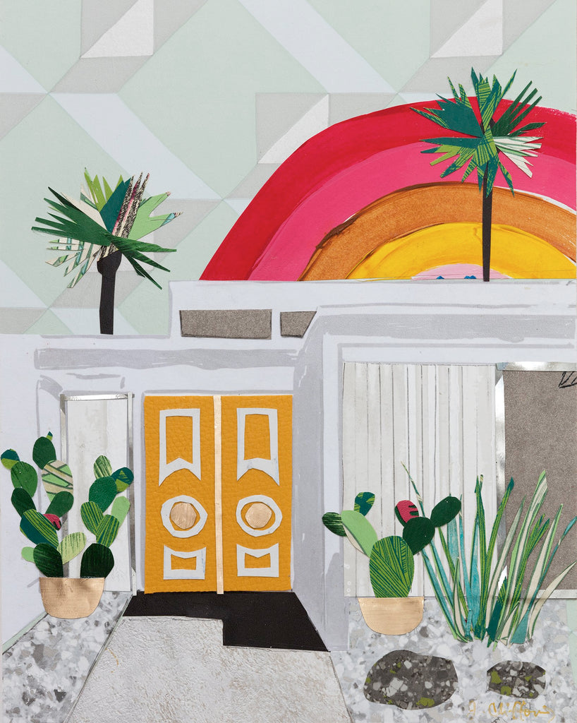 Palm Springs Yellow Door Collage